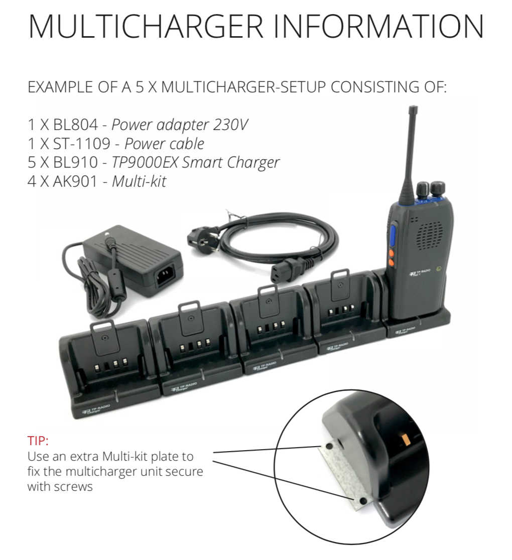 TP9000EX CHARGER-KIT