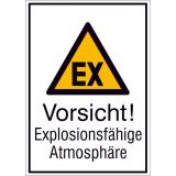 Combi warning sign Warning of explosive atmosphere
