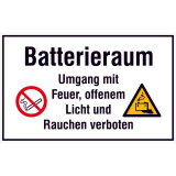 Information sign - service label Batterieraum